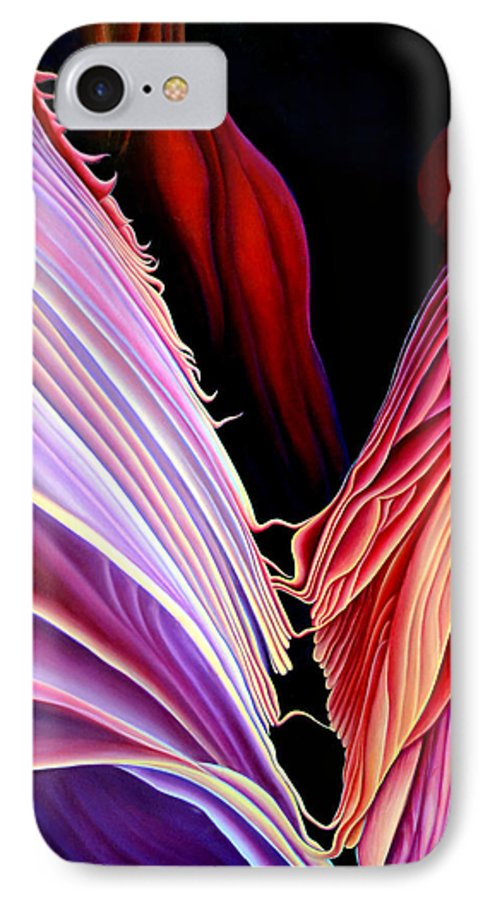 Antalope Canyon IPhone 7 Case featuring the painting Rebirth by Anni Adkins