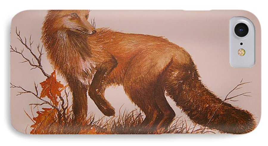 Nature IPhone 7 Case featuring the painting Red Fox by Ben Kiger
