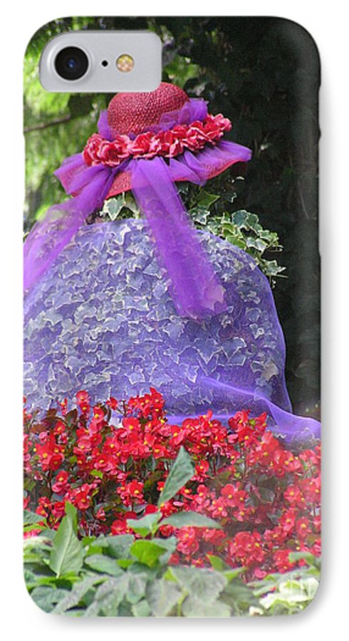 Red Hat IPhone 7 Case featuring the photograph Red Hat Veil by Louise Magno