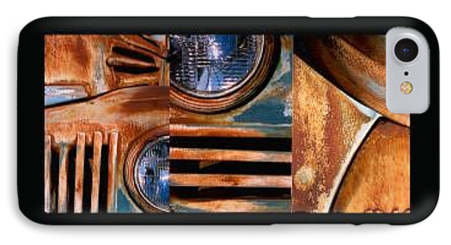 Abstract Photo Of Chevy Truck IPhone 7 Case featuring the photograph Red Head On by Steve Karol