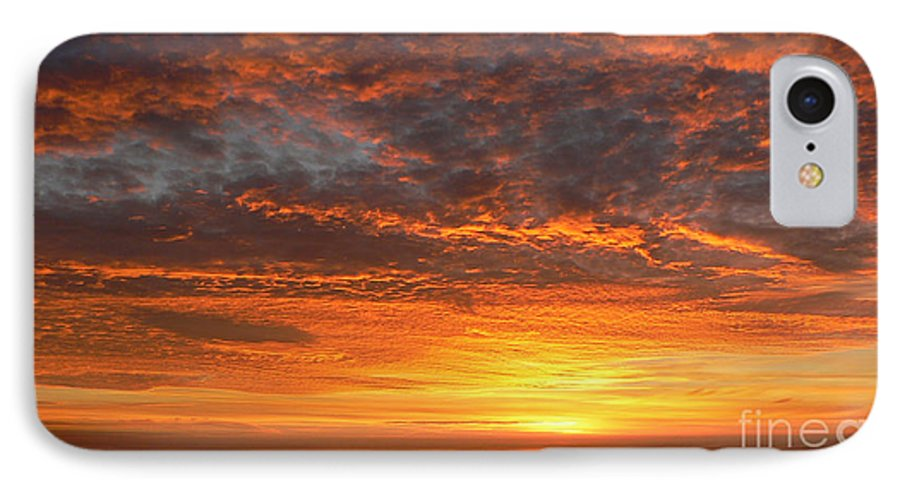 Northwest IPhone 7 Case featuring the photograph Red Skies At Night by Larry Keahey