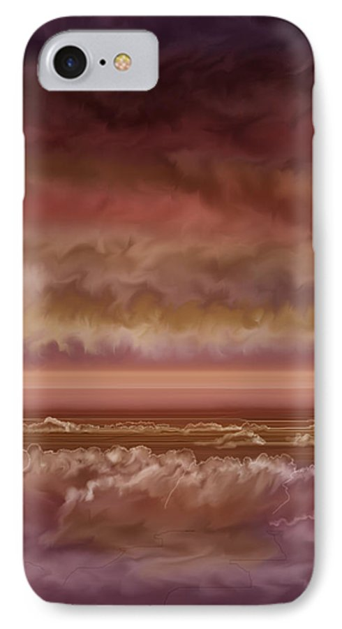 Sunset IPhone 7 Case featuring the painting Red Sky At Night Sailor Delight by Anne Norskog