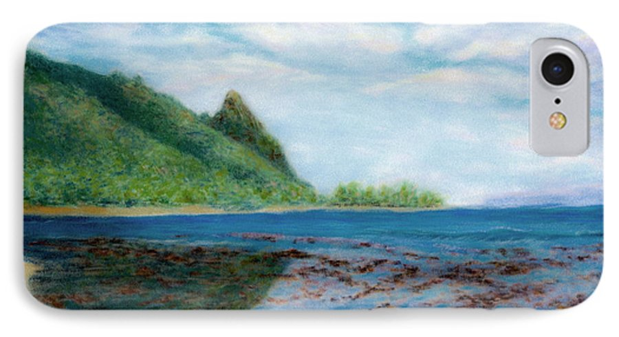Rainbow Colors Pastel IPhone 7 Case featuring the painting Reef Walk by Kenneth Grzesik