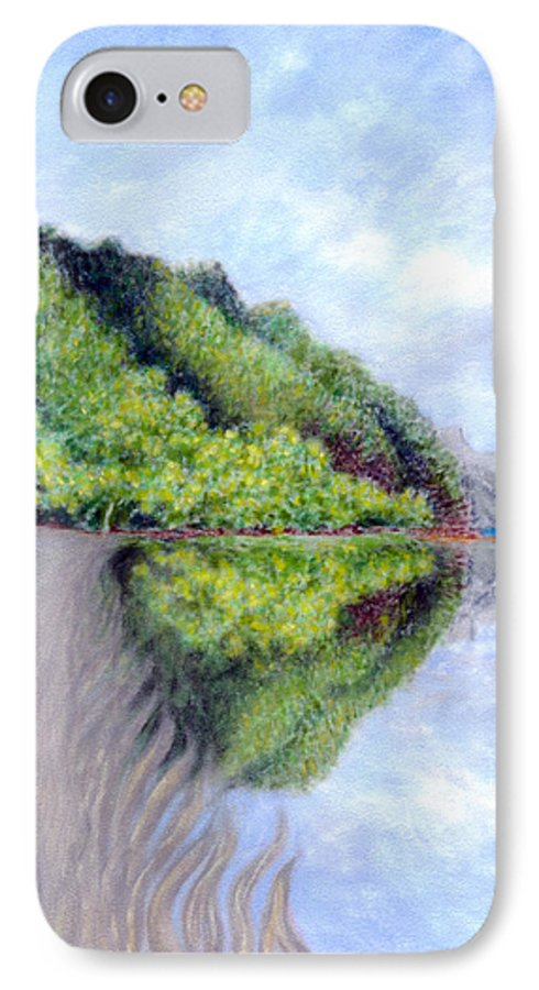 Coastal Decor IPhone 7 Case featuring the painting Reflection by Kenneth Grzesik