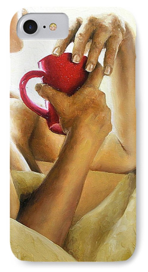 Nude IPhone 7 Case featuring the painting Reflections 3 by Trisha Lambi