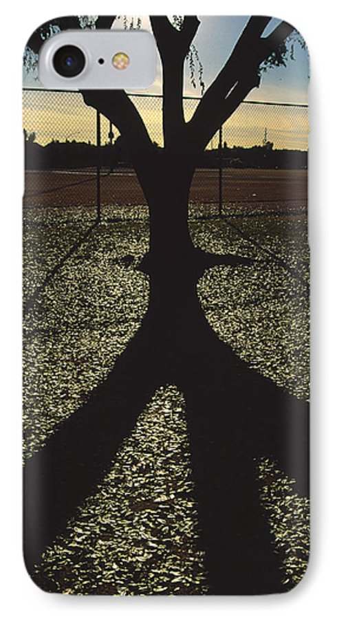 Tree IPhone 7 Case featuring the photograph Reflections In A Park by Randy Oberg