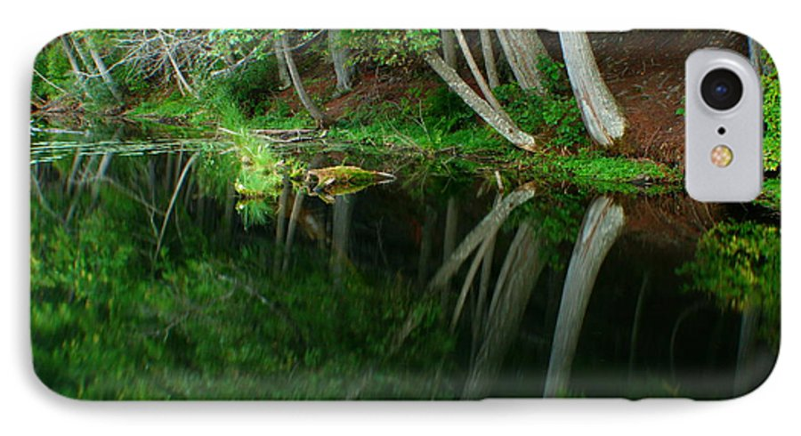 Forest IPhone 7 Case featuring the photograph Reflections Of A Forest by Idaho Scenic Images Linda Lantzy