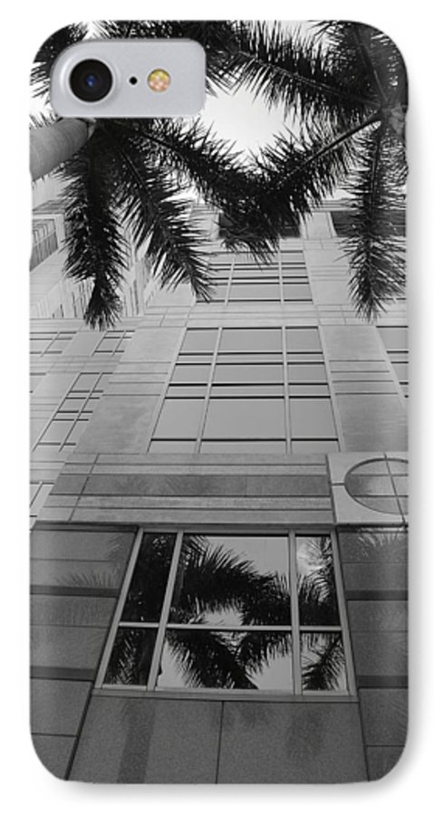 Architecture IPhone 7 Case featuring the photograph Reflections On The Building by Rob Hans