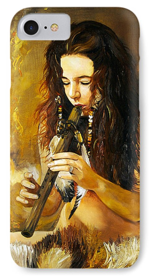 Woman IPhone 7 Case featuring the painting Release by J W Baker