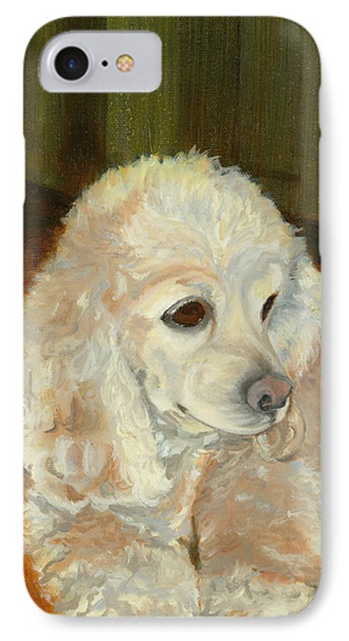 Animal IPhone 7 Case featuring the painting Remembering Morgan by Paula Emery