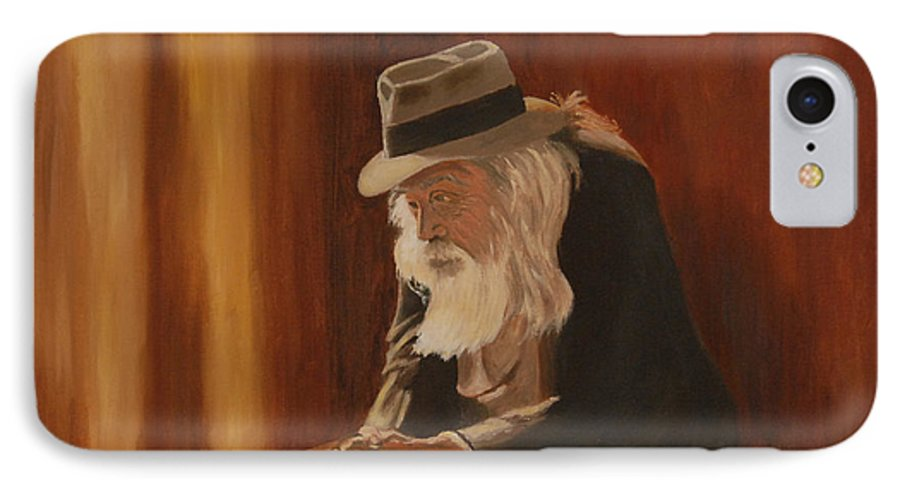 Man IPhone 7 Case featuring the painting Remembrance by Quwatha Valentine