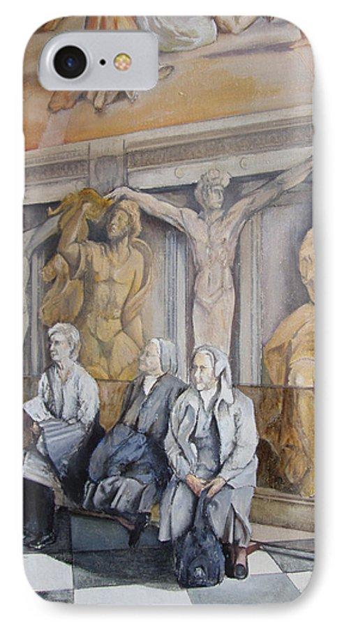 Vaticano IPhone 7 Case featuring the painting Reposo En El Vaticano by Tomas Castano