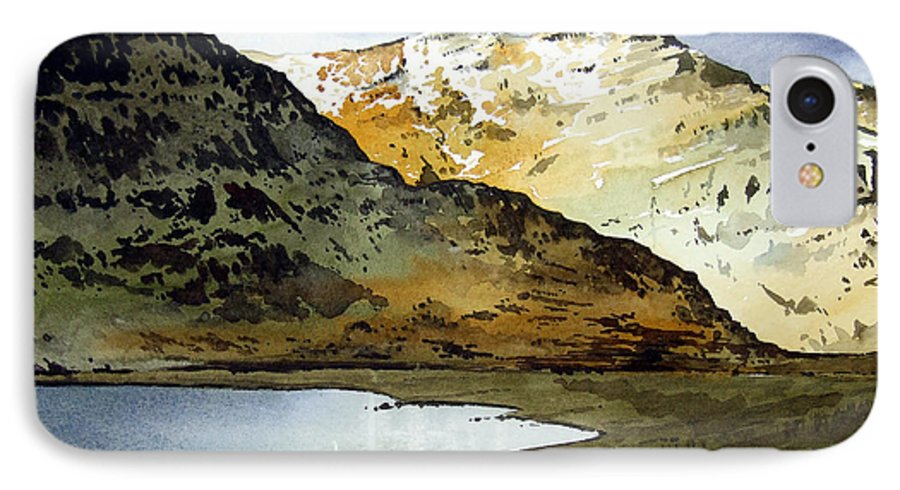 Watercolour Landscape Of Scottish Mountains IPhone 7 Case featuring the painting Rest And Be Thankful Pass by Paul Dene Marlor