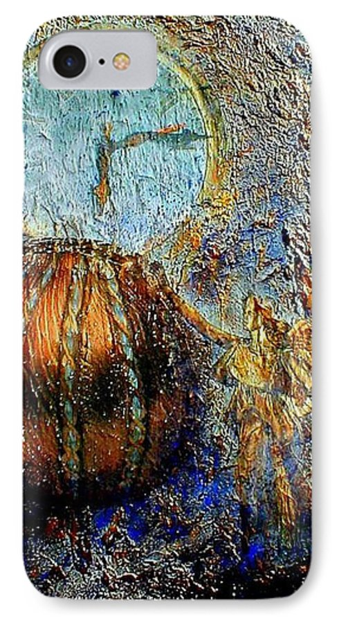 Christian IPhone 7 Case featuring the mixed media Revelation by Gail Kirtz