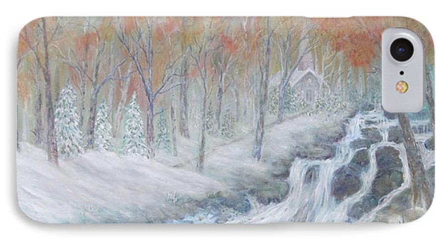 Snow; Landscape; Church IPhone 7 Case featuring the painting Reverence by Ben Kiger
