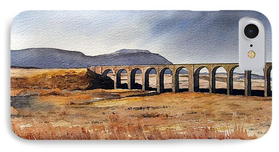 Landscape IPhone 7 Case featuring the painting Ribblehead Viaduct by Paul Dene Marlor