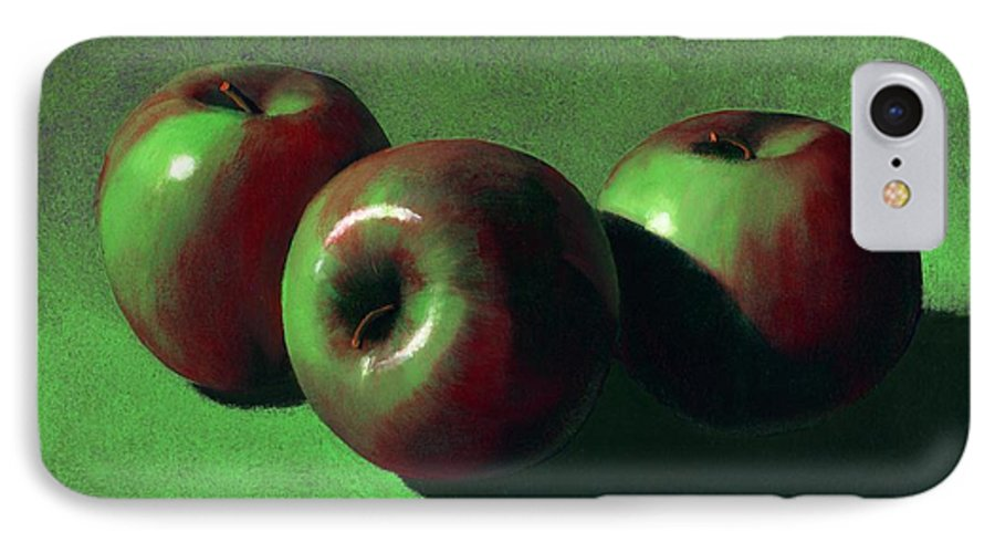 Still Life IPhone 7 Case featuring the painting Ripe Apples by Frank Wilson