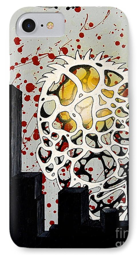 Energy IPhone 7 Case featuring the painting Rise by A 2 H D