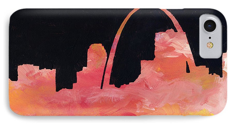 Cityscape IPhone 7 Case featuring the painting Riverfront by Joseph A Langley