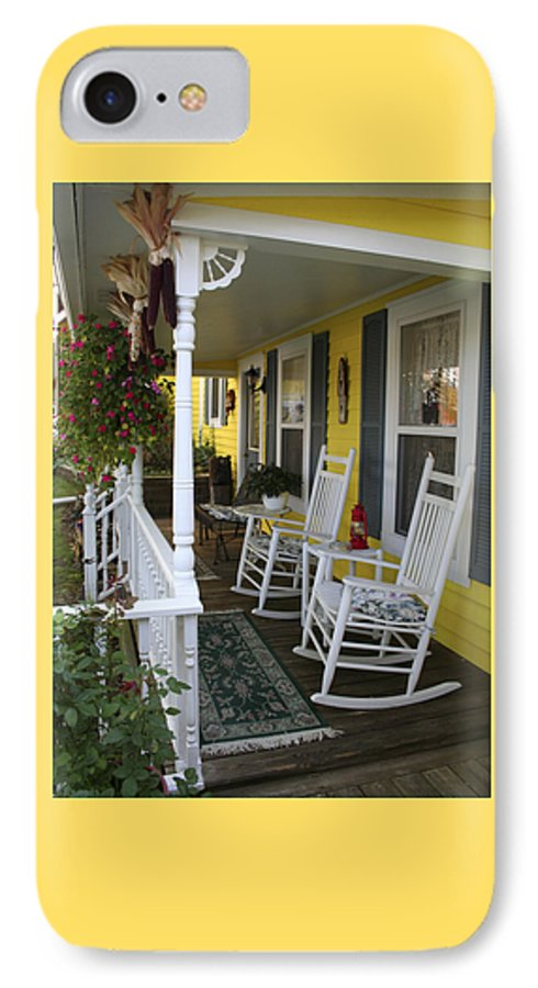 Rocking Chair IPhone 7 Case featuring the photograph Rockers On The Porch by Margie Wildblood