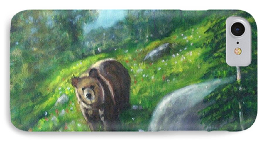 Wildlife IPhone 7 Case featuring the painting Rocky Mountain Spring by Darla Joy Johnson