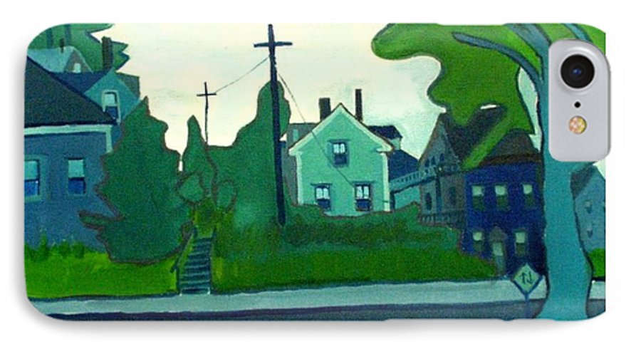 Landscape IPhone 7 Case featuring the painting Rocky Neck Art Colony East Gloucester Ma by Debra Bretton Robinson