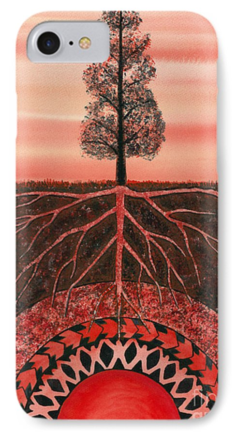 Chakra IPhone 7 Case featuring the painting Root Chakra by Catherine G McElroy