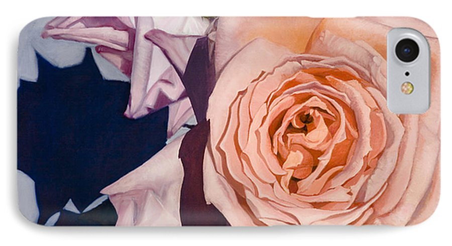 Roses IPhone 7 Case featuring the painting Rose Splendour by Kerryn Madsen-Pietsch
