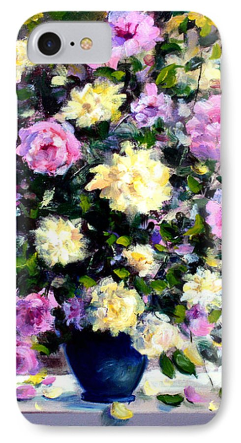 Roses IPhone 7 Case featuring the painting Roses by Mario Zampedroni