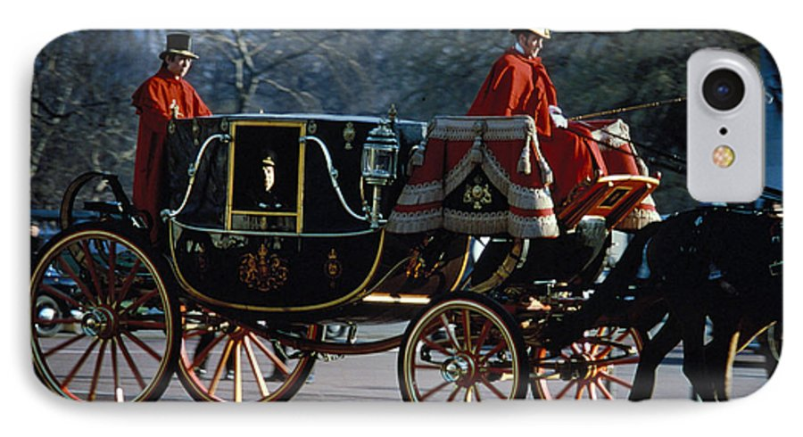 Coach IPhone 7 Case featuring the photograph Royal Carriage In London by Carl Purcell