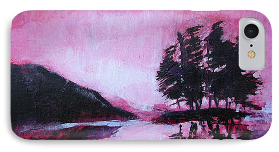 Ruby Dawn IPhone 7 Case featuring the painting Ruby Dawn by Seth Weaver