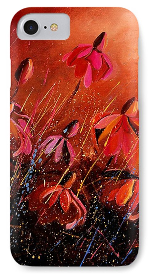 Poppies IPhone 7 Case featuring the painting Rudbeckia's 45 by Pol Ledent