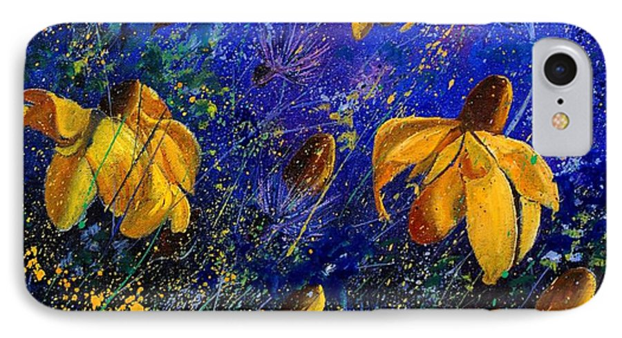 Poppies IPhone 7 Case featuring the painting Rudbeckia's by Pol Ledent