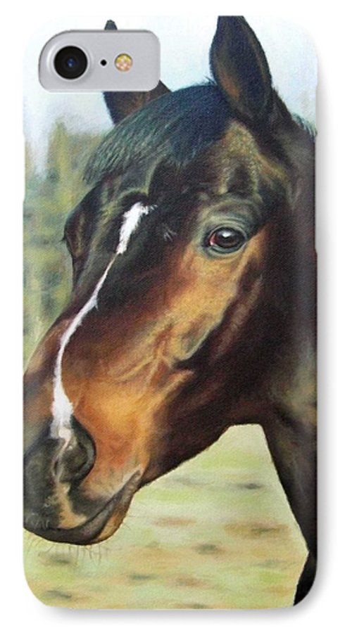 Horse IPhone 7 Case featuring the painting Russian Horse by Nicole Zeug