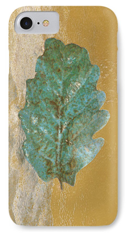 Leaves IPhone 7 Case featuring the photograph Rustic Leaf by Linda Sannuti