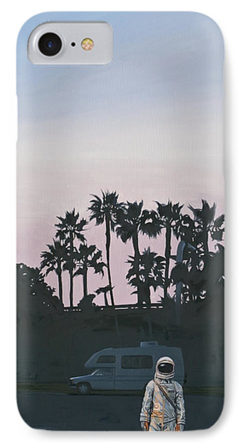 Astronaut IPhone 7 Case featuring the painting RV Dusk by Scott Listfield