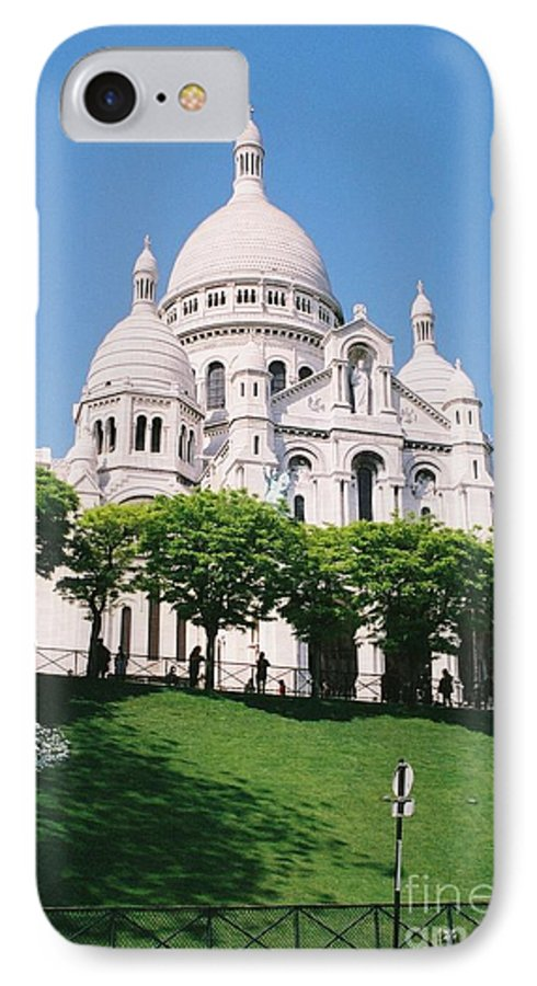 Church IPhone 7 Case featuring the photograph Sacre Coeur by Nadine Rippelmeyer
