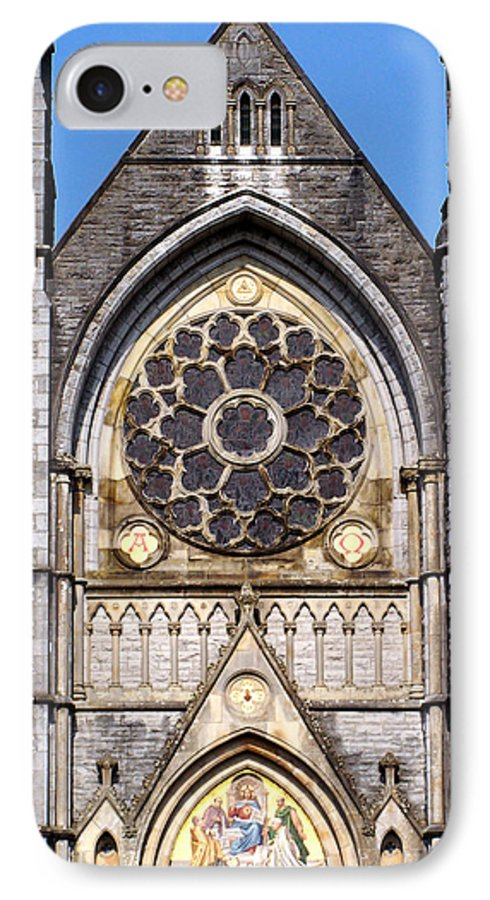 Ireland IPhone 7 Case featuring the photograph Sacred Heart Church Detail Roscommon Ireland by Teresa Mucha