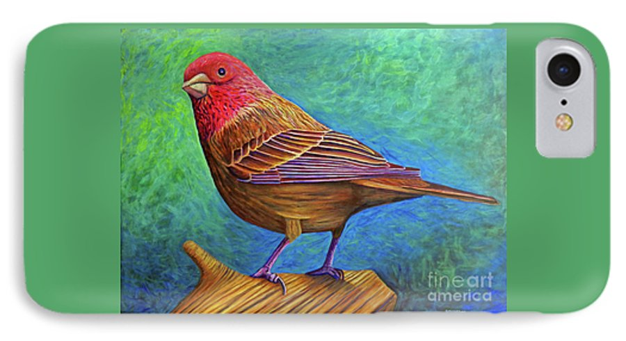 Bird IPhone 7 Case featuring the painting Sacred Space by Brian Commerford