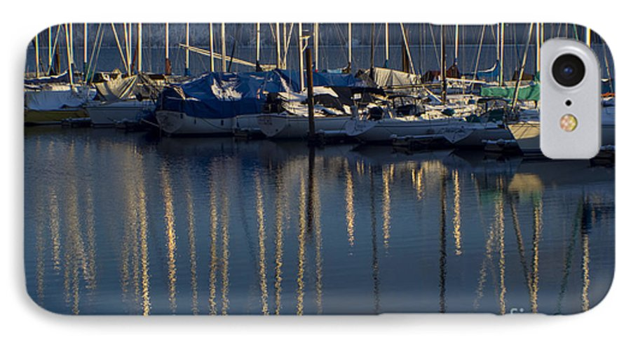 Mast IPhone 7 Case featuring the photograph Sailboat Reflections by Idaho Scenic Images Linda Lantzy