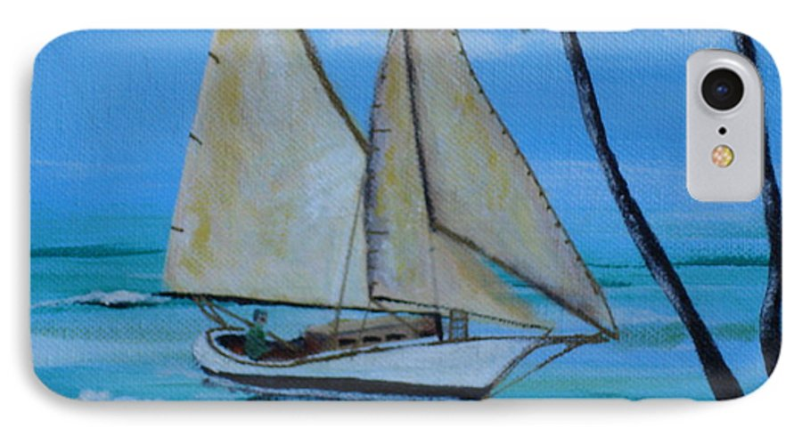 Sailboat IPhone 7 Case featuring the painting Sailor's Dream by Susan Kubes