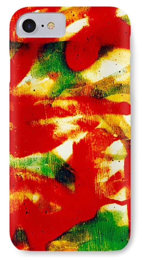 Abstract IPhone 7 Case featuring the photograph Salsa by David Rivas