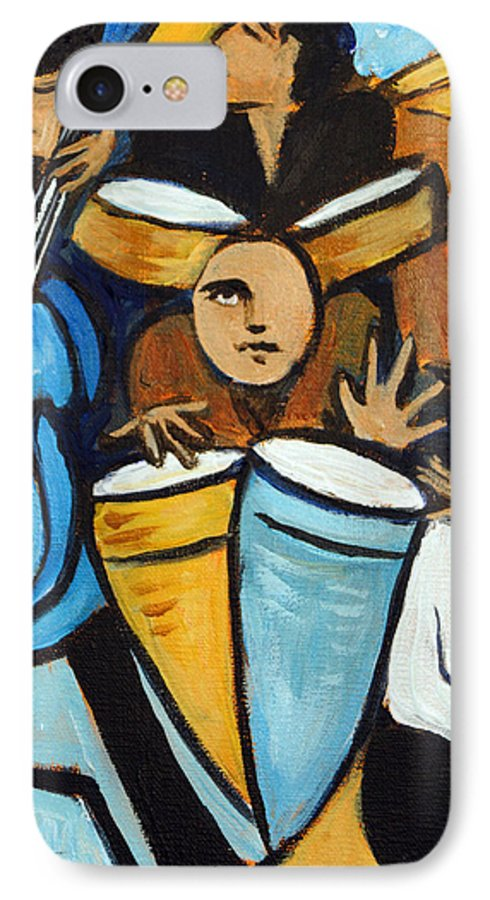 Cubist Salsa Dancers IPhone 7 Case featuring the painting Salsa Night by Valerie Vescovi