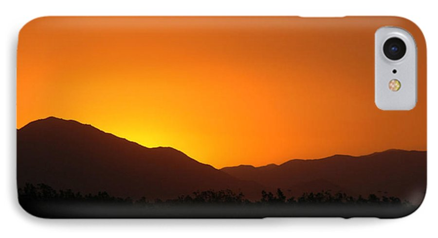 Sunset IPhone 7 Case featuring the photograph San Jacinto Dusk Near Palm Springs by Michael Ziegler