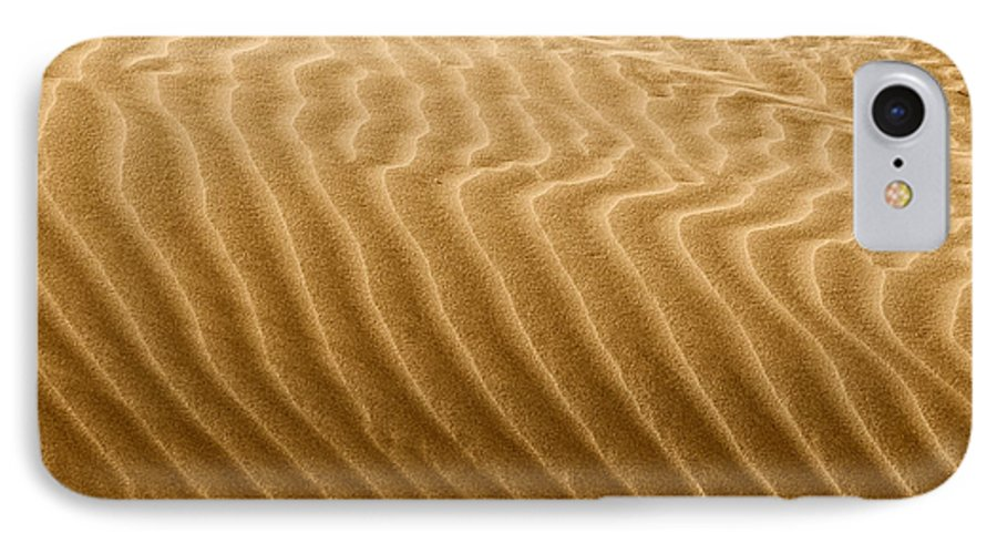 Sand IPhone 7 Case featuring the photograph Sand Dune Mojave Desert California by Christine Till