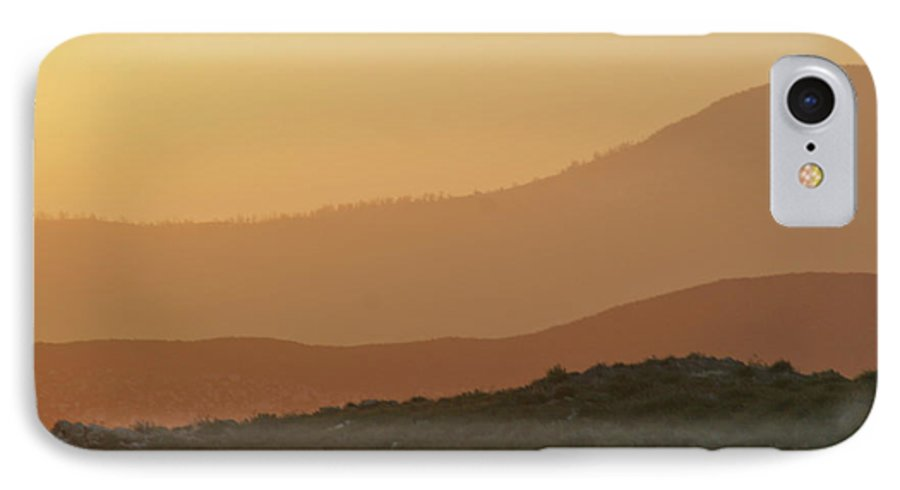 Sandstorm IPhone 7 Case featuring the photograph Sandstorm During Sunset On Old Highway Route 80 by Christine Till