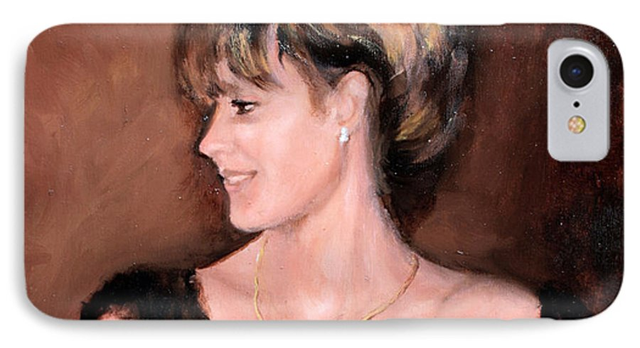 Portrait IPhone 7 Case featuring the painting Sara by Mario Zampedroni