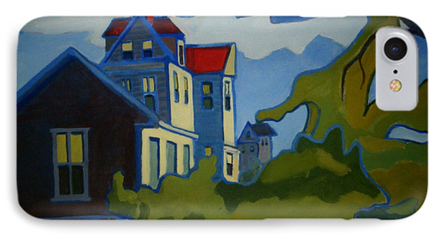 Buildings IPhone 7 Case featuring the painting Sarah Paul by Debra Bretton Robinson
