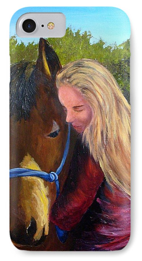 IPhone 7 Case featuring the painting Sasha And Chelsea by Tami Booher