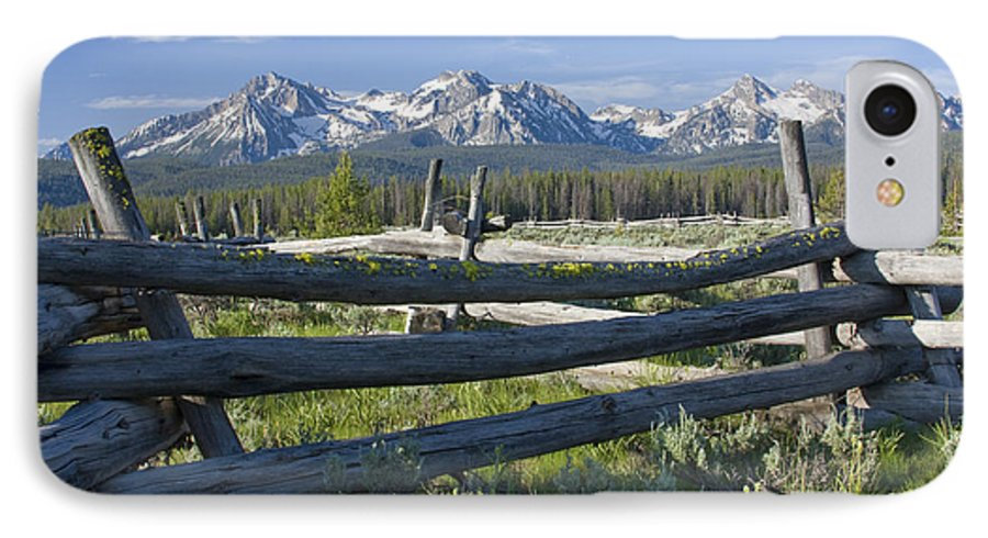 Sawtooth IPhone 7 Case featuring the photograph Sawtooth Range by Idaho Scenic Images Linda Lantzy